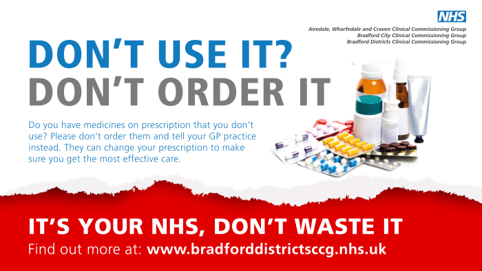 Don't use it? Don't order it.  Do you have medicines of prescription that you don't use? Please don't order them and tell you GP practice instead. They can change your prescription to make sure you get the more effective care.